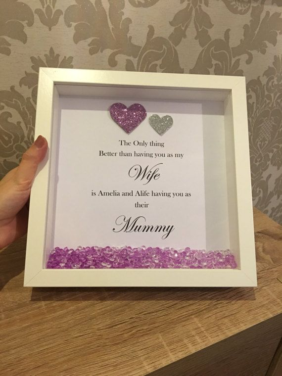 Mum Personalised Frame Nanny Personalised Frame Nan Shadow Box Gifts Personalised Frames Frame