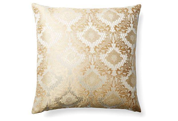 Tina 18x18 Cotton-Blend Pillow, Natural on OneKingsLane.com