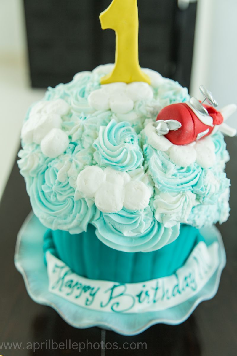 Smash cake airplane theme cake by divine delicacies in miami