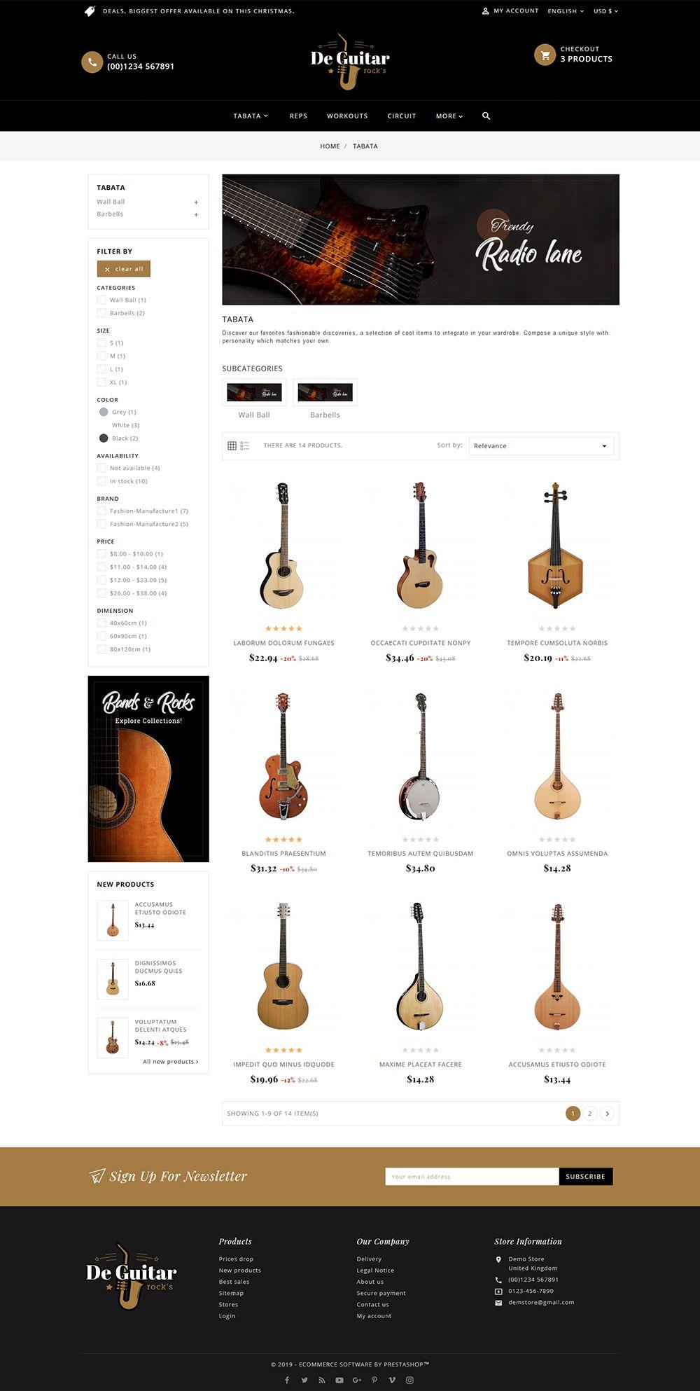 De Guitar & Music Instruments Responsive