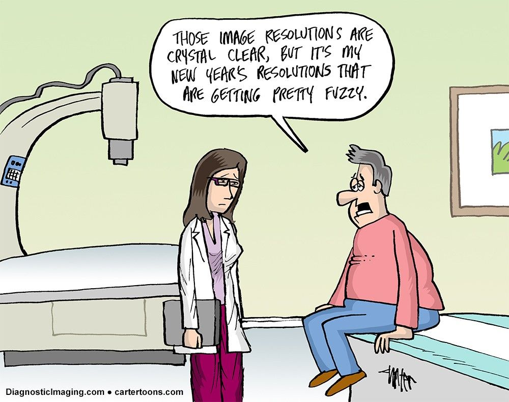 Radiology Comic New Year's Resolution Radiology, New