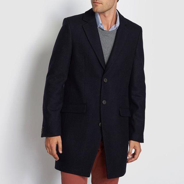 R essentiel Manteau drap de laine | La Redoute | Manteau