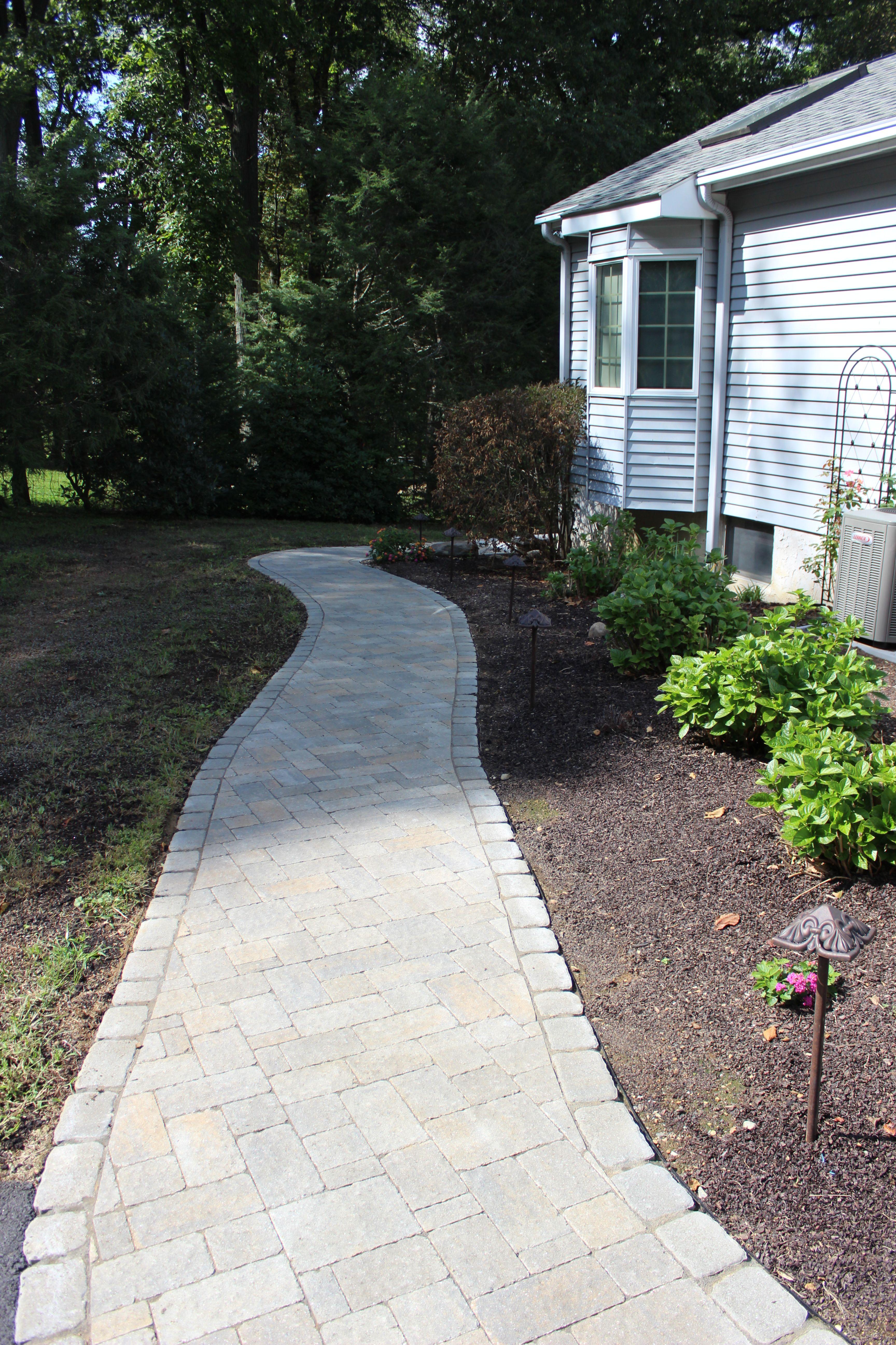 paver walkway concrete