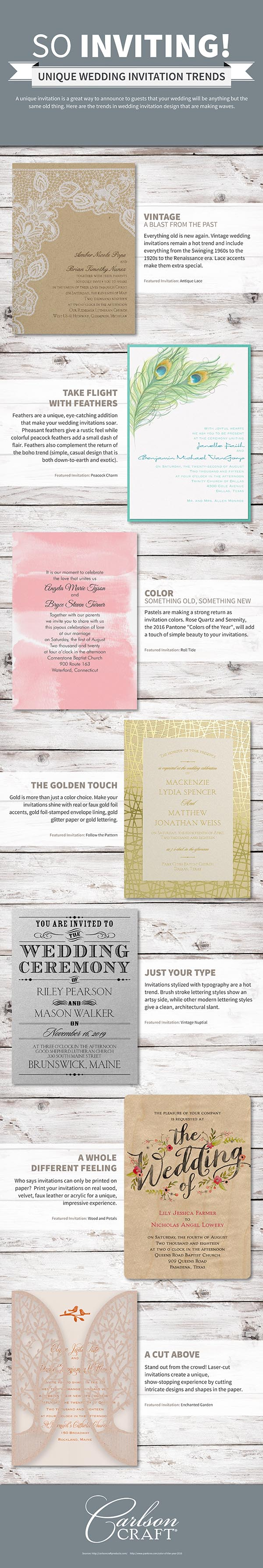 Top Wedding Invitation Trends For 2017 Resources Pinterest