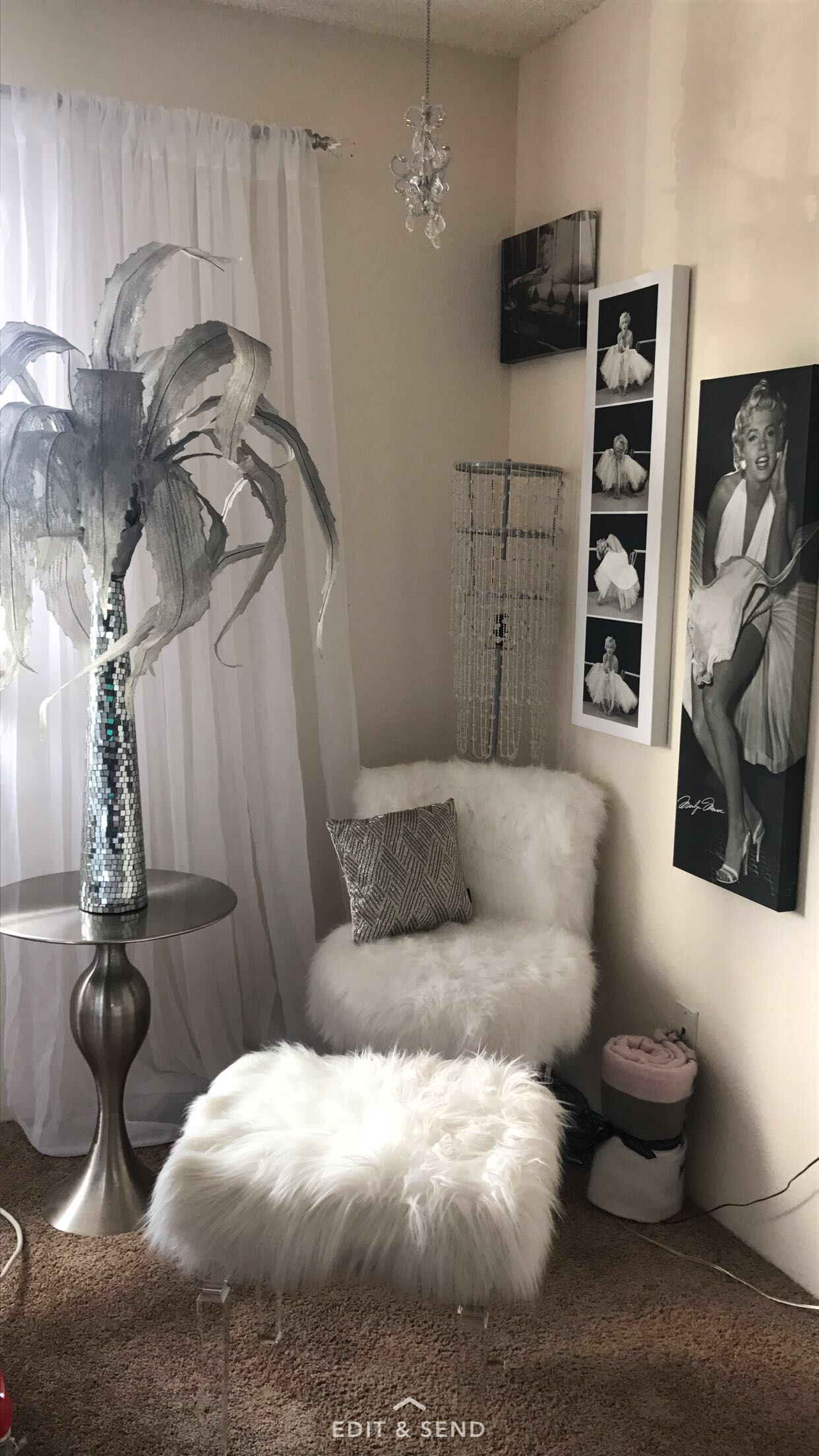 marilyn monroe glamour bedroom | bedroom decor, home decor