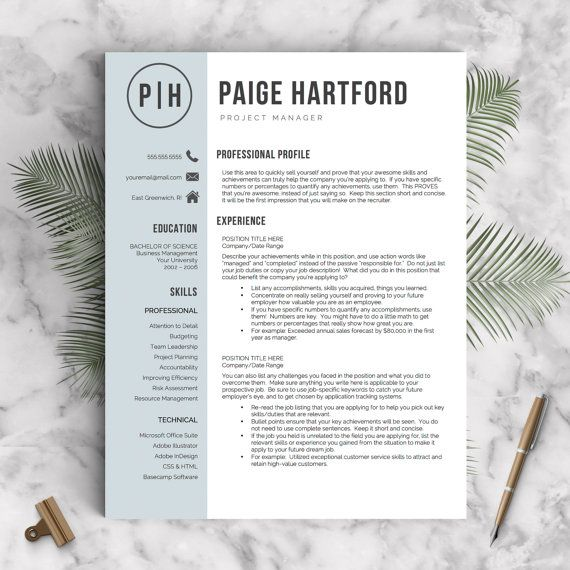 creative resume template bundle for word  u0026 pages