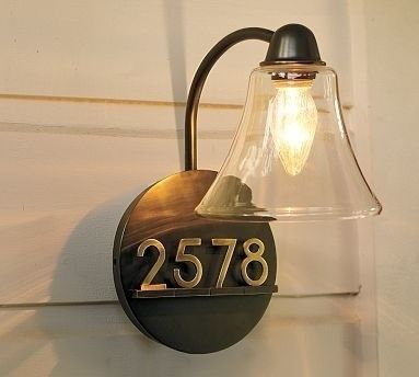 Mayfair Sconce Traditional House Numbers Traditional