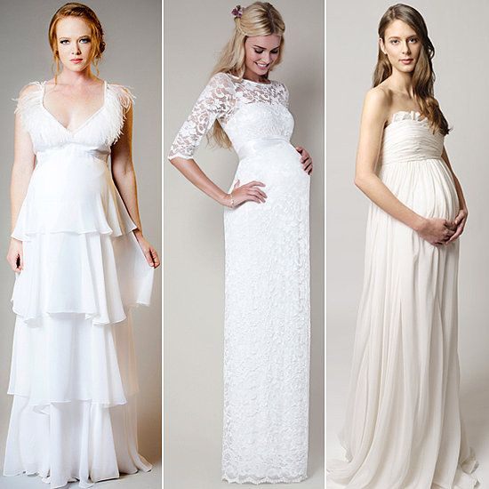 Unique Here Comes the Bride and Baby Wedding Dresses For Moms to Be
