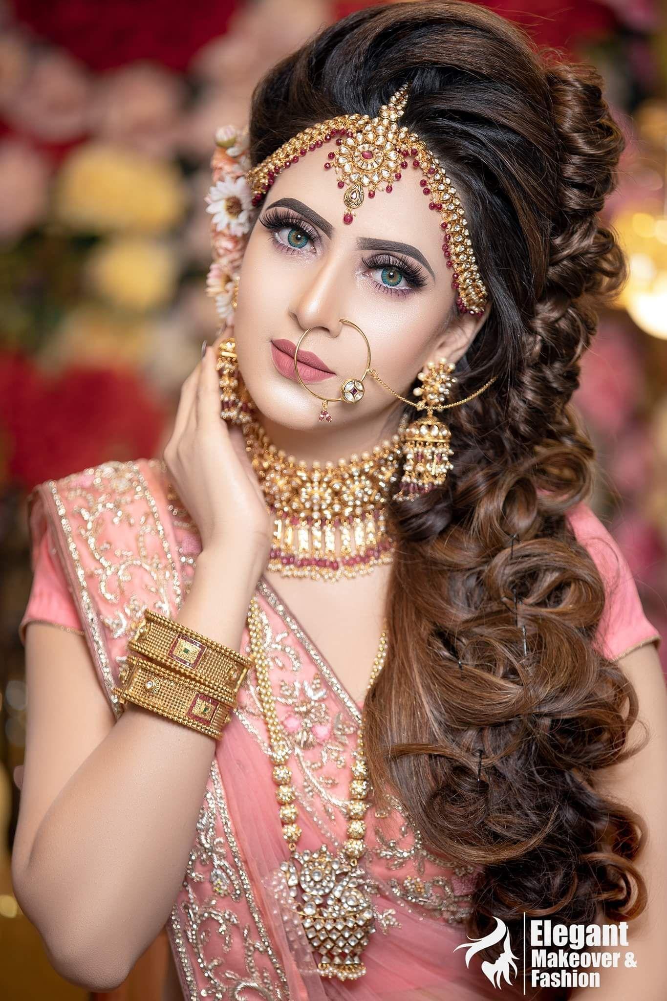 Beautiful wedding women indian bridal makeup bridal