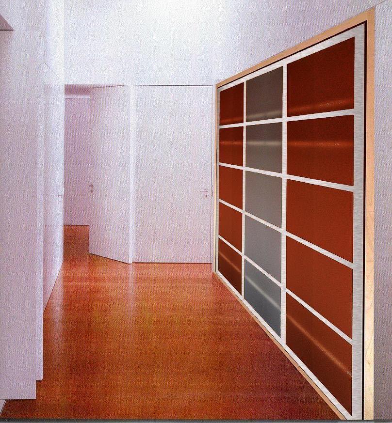 la mejor solucin para pasillos anchos un armario empotrado que puede variar de profundidad