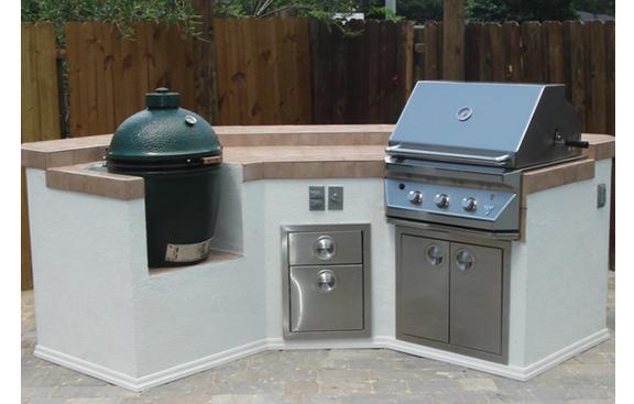 outdoor kitchens with egg | Outdoor Kitchens with a BBQ Grill & a ...