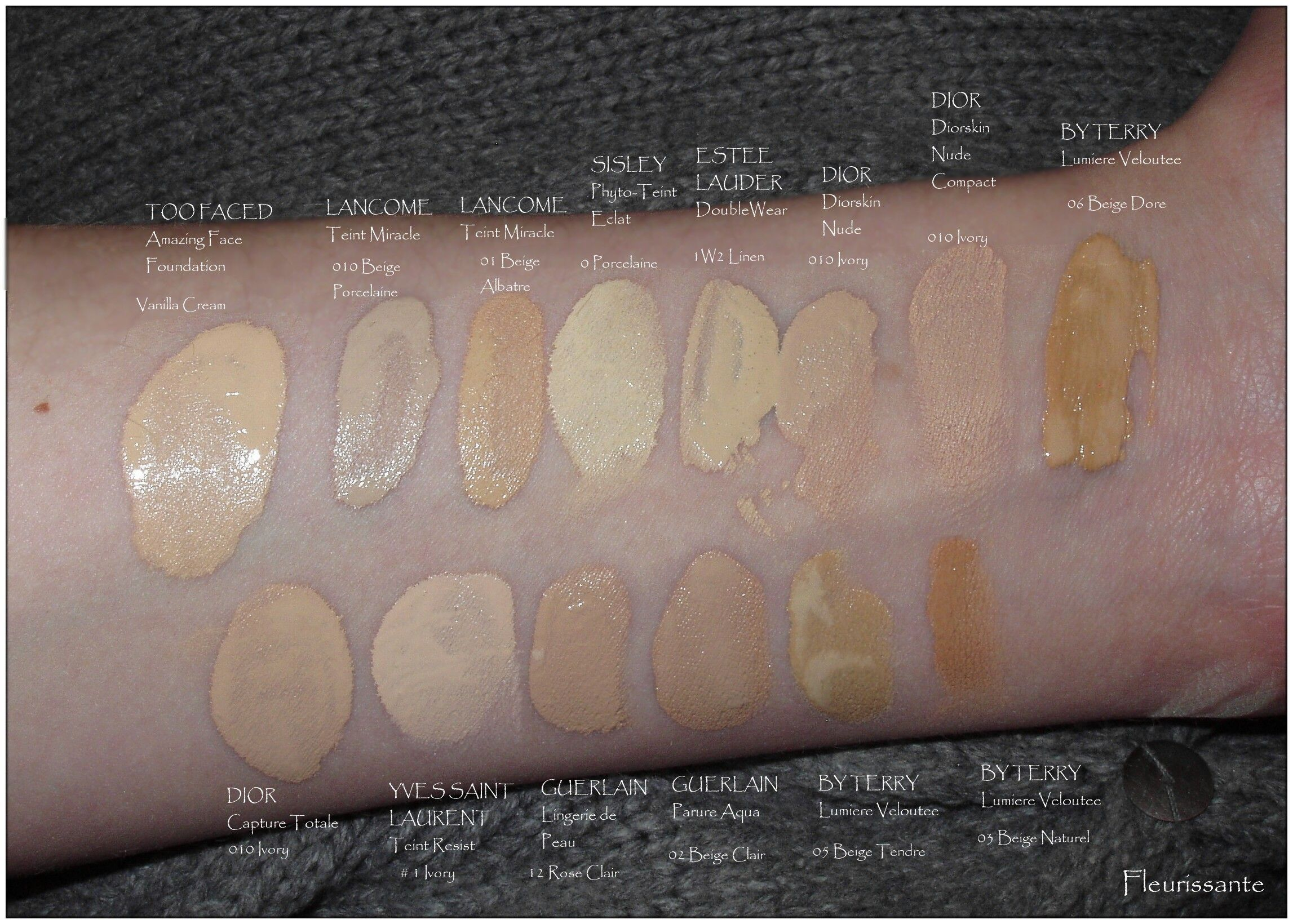 dior new foundation swatches