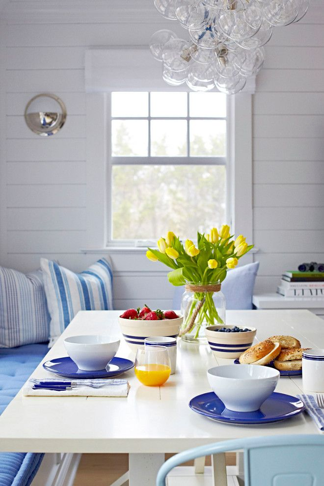 Beach Cottage With Crisp And Fresh Coastal Interiors Beach House Interior Coastal Interiors Beach Bungalows