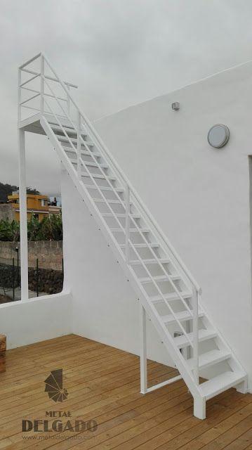 Acero inoxidable tenerife escaleras met licas tenerife for Escalera de madera al aire libre precio