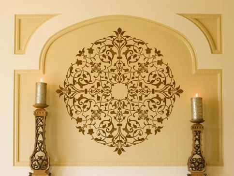San Bartolo Medallion Ceiling Stencil for Wall Decor and More ...