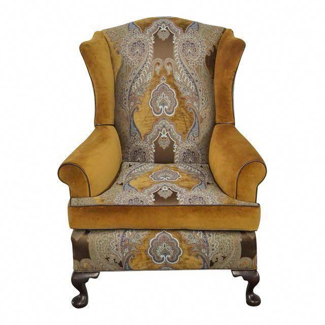 Paisley Velvet Wingback Chair In 2020 Velvet Wingback