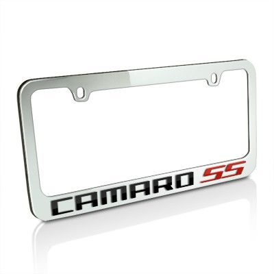 Chevrolet Camaro SS Black and Red Word License Frame | EDI-5305WO ...