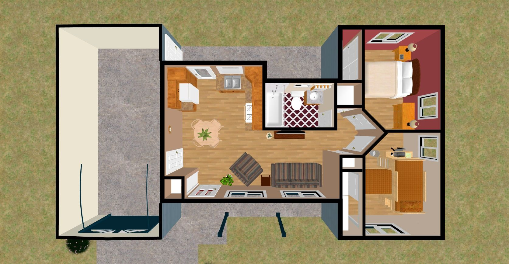 Blog cozy home plans part 2 tiny home one bedroom - Simple interior design for small house ...