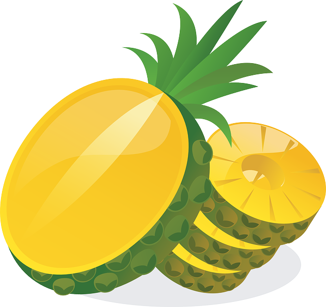 Pineapple Sweet Yellow Delicious Ripe Fruity