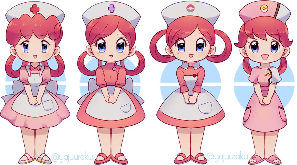 Nurse Joy By Yajuuu Deviantart Com On Deviantart Pokemon Characters Nurse Drawing Pokemon Alola