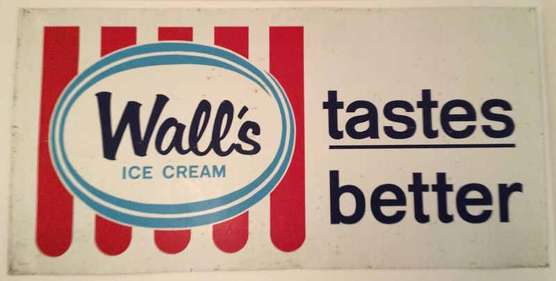 Large Walls Ice Cream Tin Sign Walls Ice Cream Vintage Ice