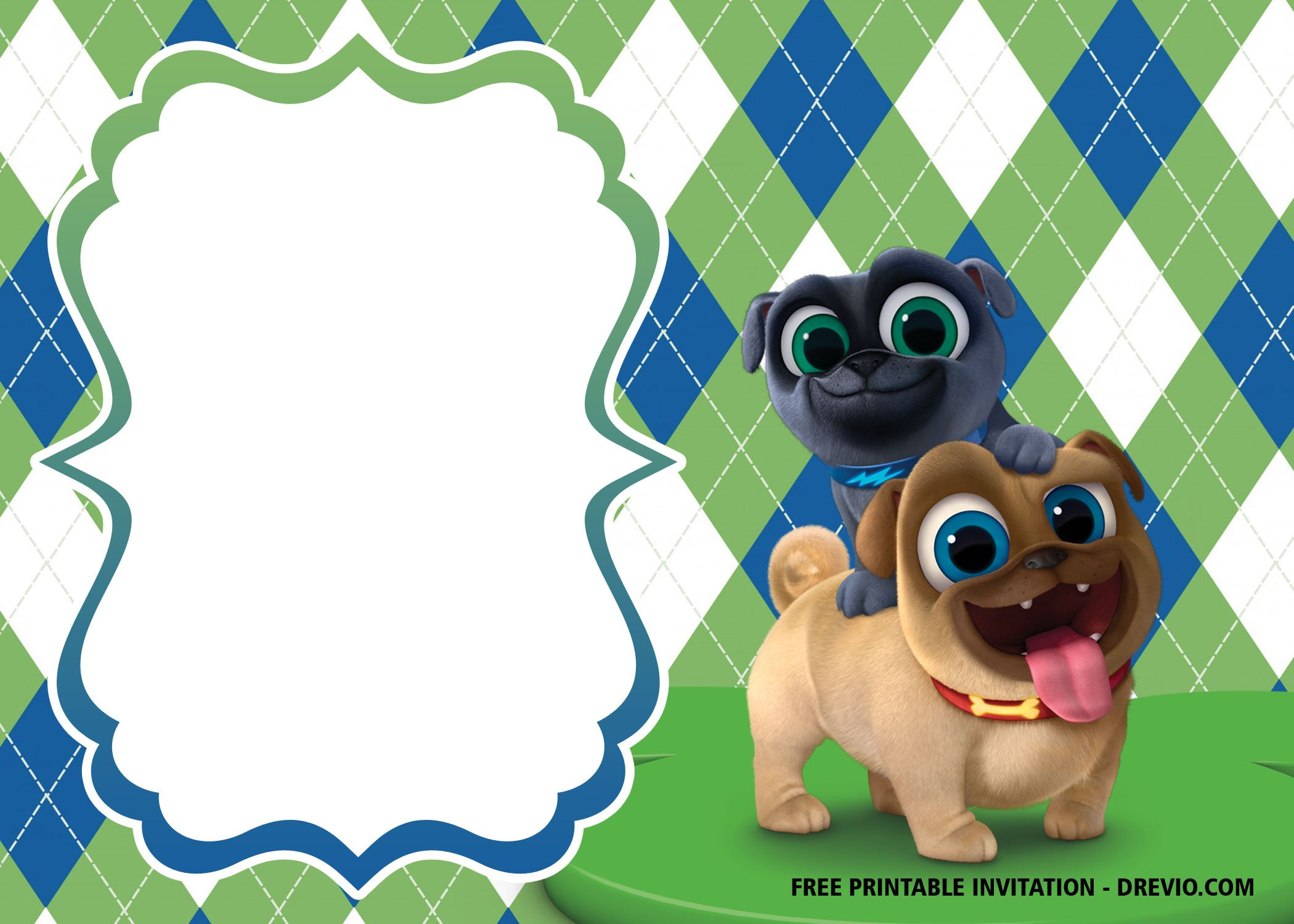 Free Disney Puppy Dog Pals Invitation Templates Dog Baby Shower Invitations Puppy Birthday Invitations Puppy Birthday Parties