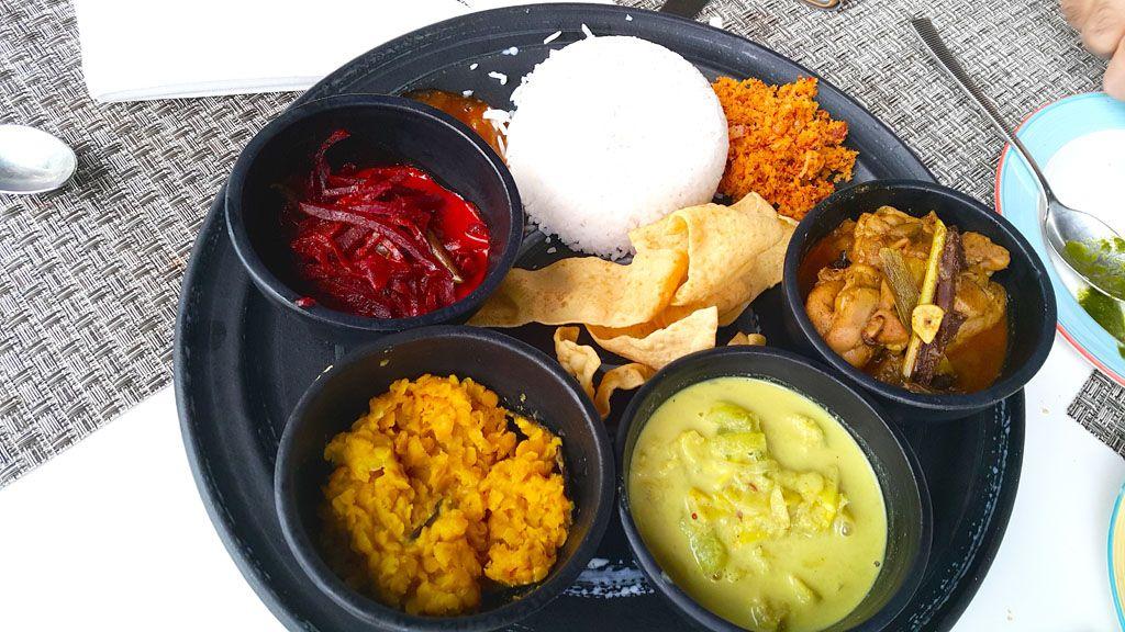 A traditional Sri Lankan meal at Vivanta By Taj Bentota