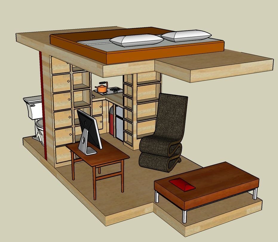Google Sketchup 3d Tiny House Designs дизайн крошечного