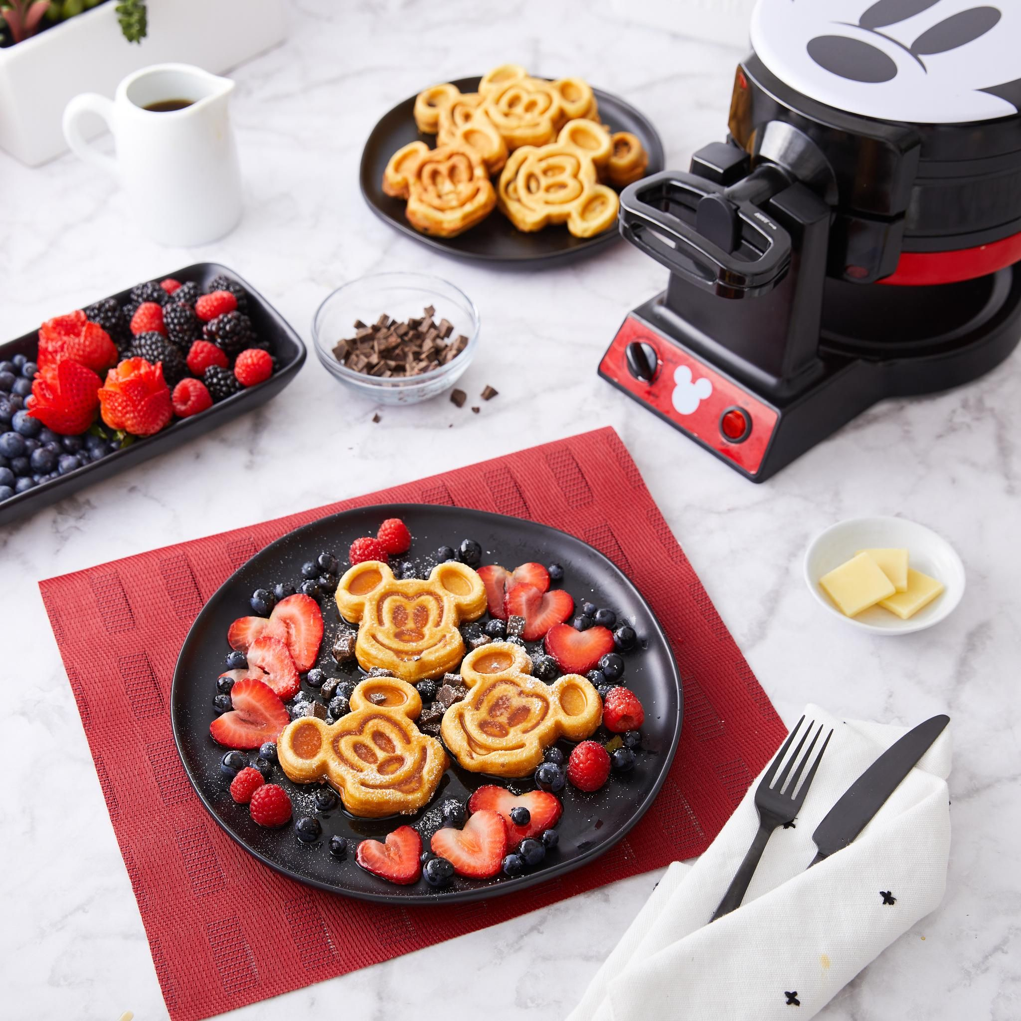 207efe4e1 Weekends are for #MickeyWaffles 🍽   Disney Mickey Mouse Flip Mini Waffle  Maker