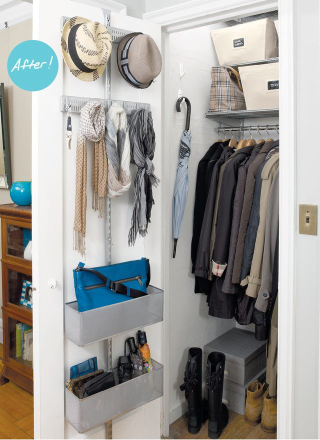 Closet Organizers A Mini Master Entry Closet Are Uncluttered In A