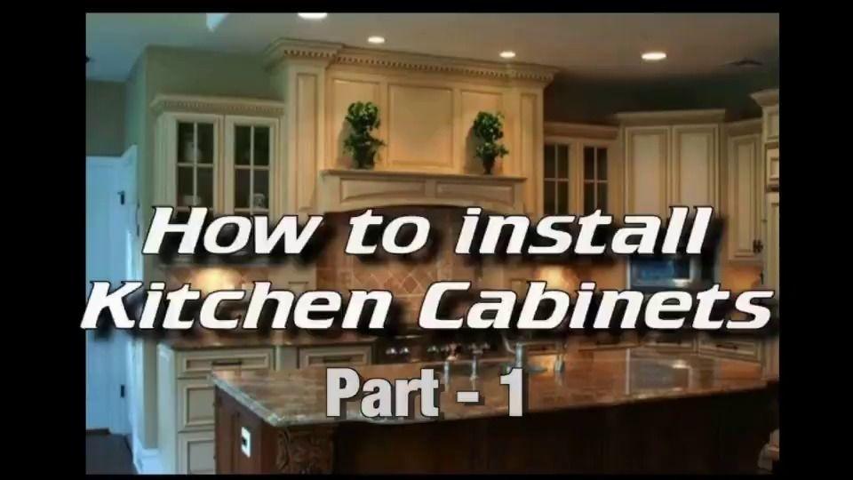 Wistia Video Thumbnail Installing Kitchen Cabinets Installing Cabinets Hanging Kitchen Cabinets