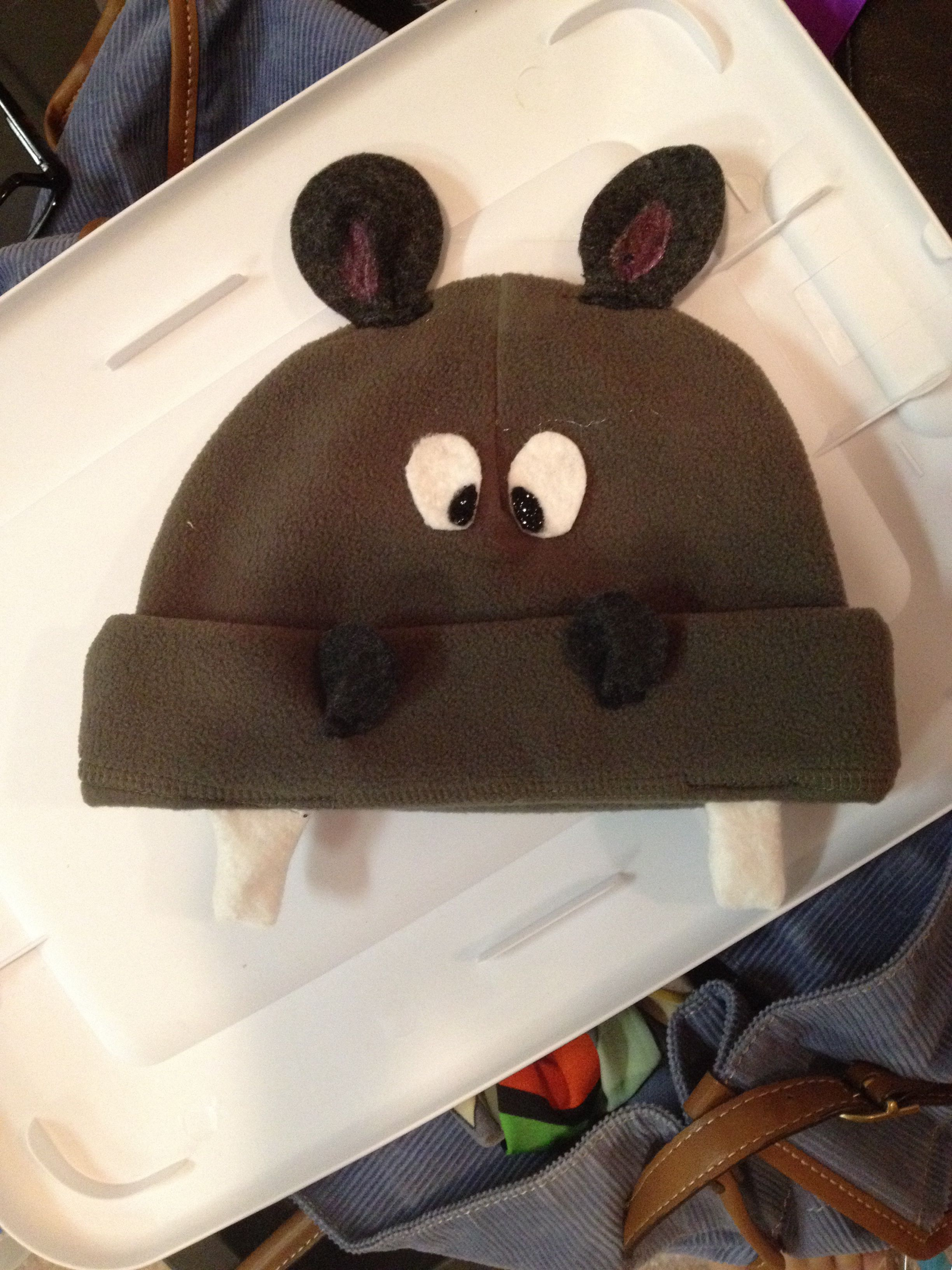 Hippo hat costume! Isn t this precious  It s a Bennie hat with felt and puff  paint accents - we think it s adorable! Stars if tomorrow children s theater  ... 720df7886a65