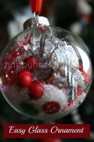 Decorated Clear Glass Christmas Balls Christmas Crafts