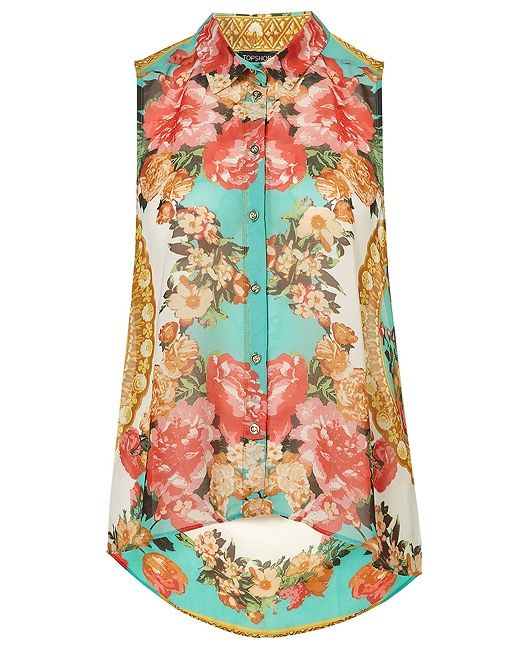 This Topshop Floral Drop Back Shirt is a great way to test drive the mirrored prints trend!