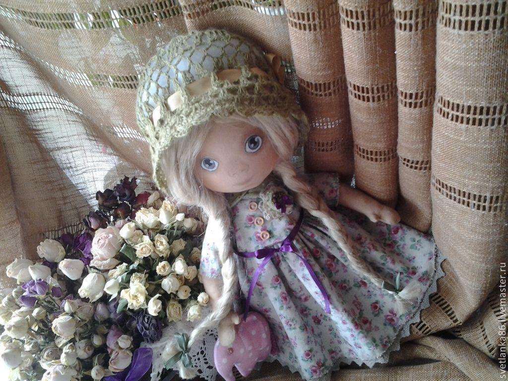 Купить Леля - розовый, кукла ручной работы, кукла текстильная, кукла, подарок, интерьерная кукла