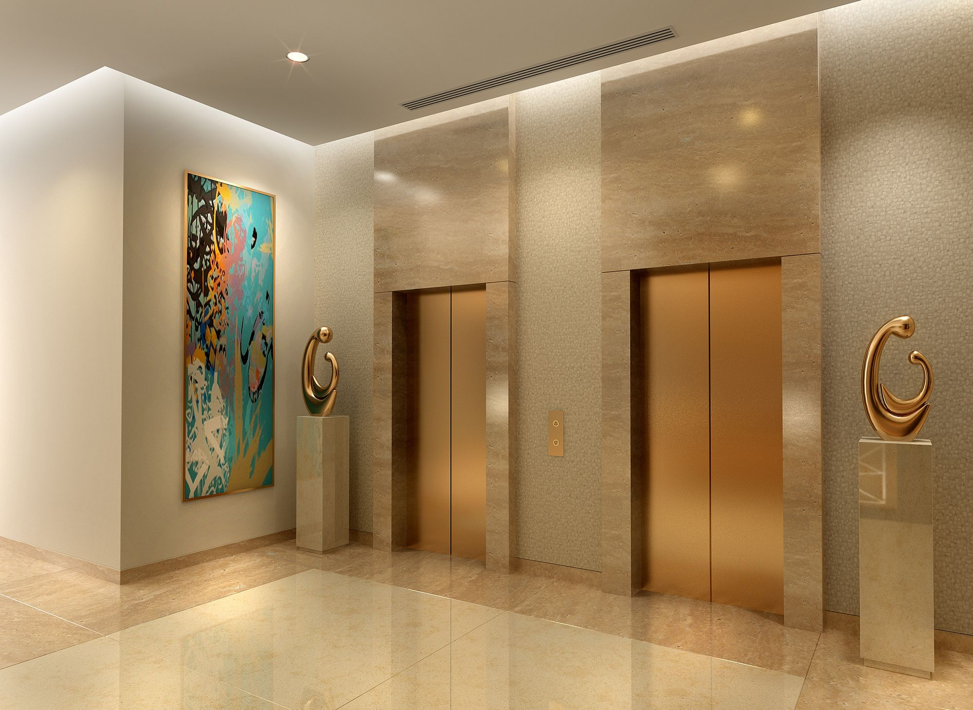 Design apartments hotel interior waplag damac celestia for Villa lobby interior design