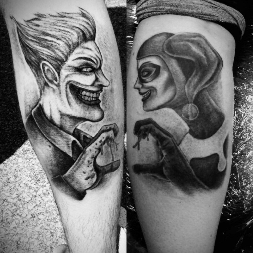 Joker And Harley Quinn Couple Tattoos Tattoos Pinterest Harley Quinn Joker And Couples