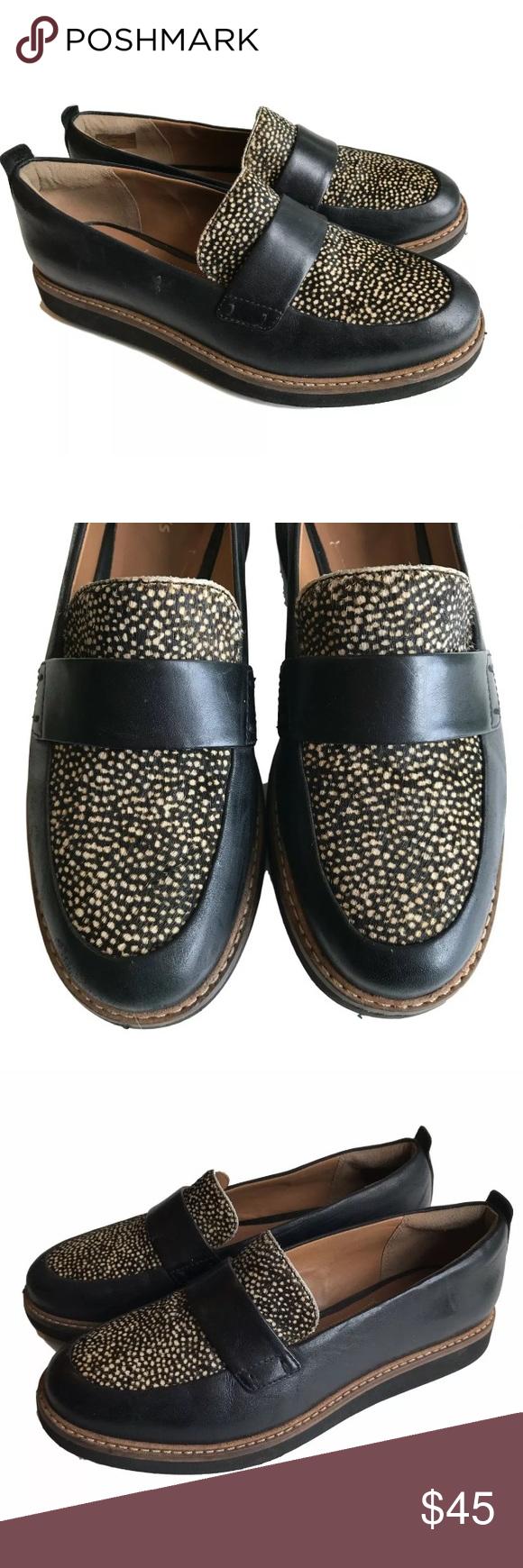 280de6deef3 Clarks Artisan Brown Loafers Calf Hair Size 5.5 Women s Clarks Artison Glick  Avalee brown leather slip