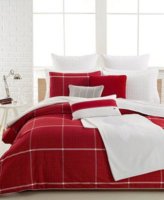 Lacoste Cambon Comforter And Duvet Cover Sets Bedroom Red White Bed Covers Duvet Cover Master Bedroom