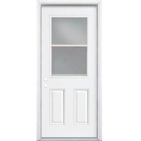 ReliaBilt Half Lite Prehung Inswing Steel Entry Door (Common: 32 ...