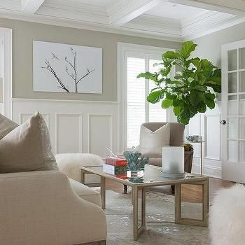 White And Tan Room With Tall Wainscoting White Wainscoting Wainscoting Styles Diy Wainscoting
