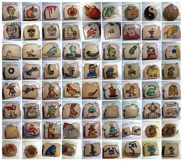 Sandwich Art: Papá dibuja en las bolsas de las loncheras de sus hijos desde el 2008 | FuriaMag | Arts Magazine