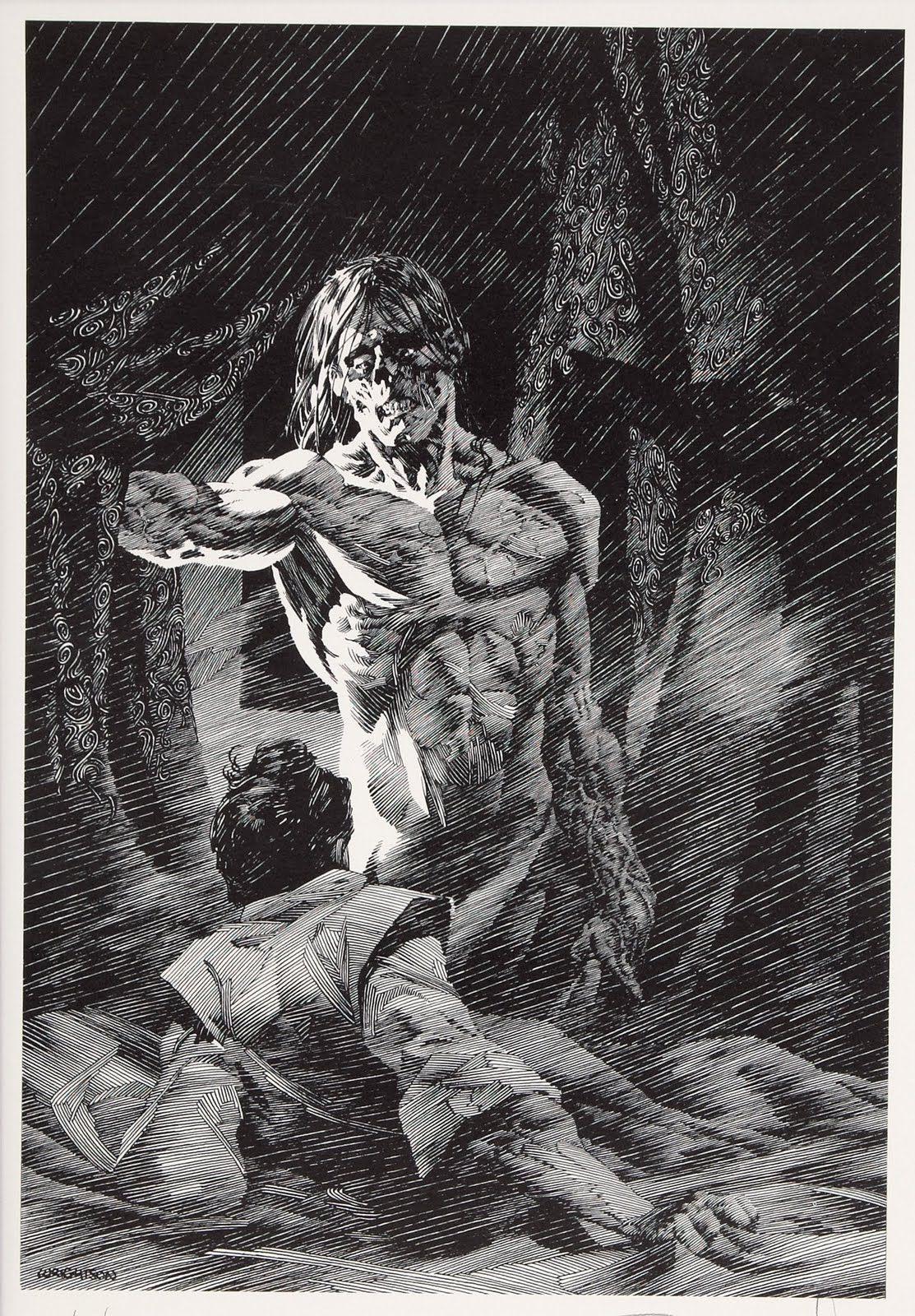 Theremina Bernie Wrightson Illustrations Of Mary Shelleys Frankenstein