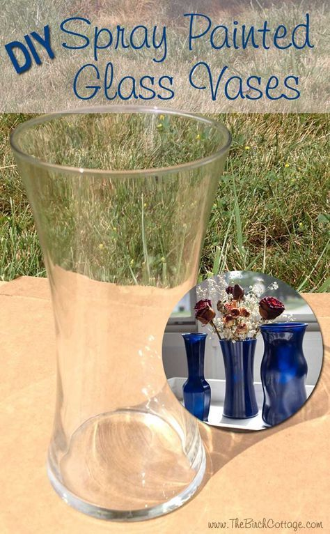 Diy Spray Painted Glass Vases Tutorial Pinterest Painted Glass