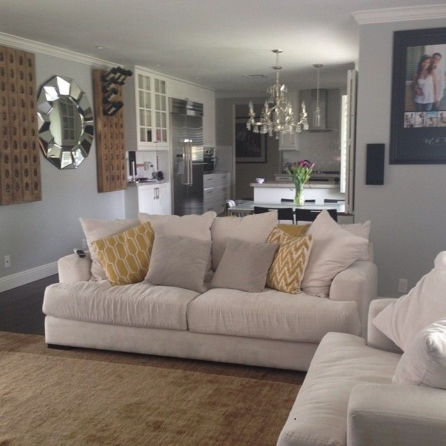 @tinaa_du0027s Living Room Remodel Is Coming Along! Features Our Portico  Mirror, Stella Sofa