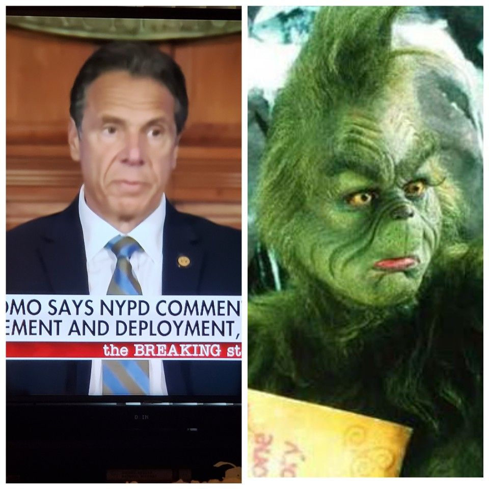 Governor Andrew Cuomo The Grinch Who Stole Christmas In 2020 Funny Memes Funny Pictures Dumb People