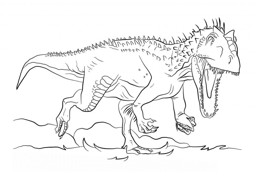 Ausmalbilder Indominus Rex Einfach Malvorlagen Dinosaur Coloring