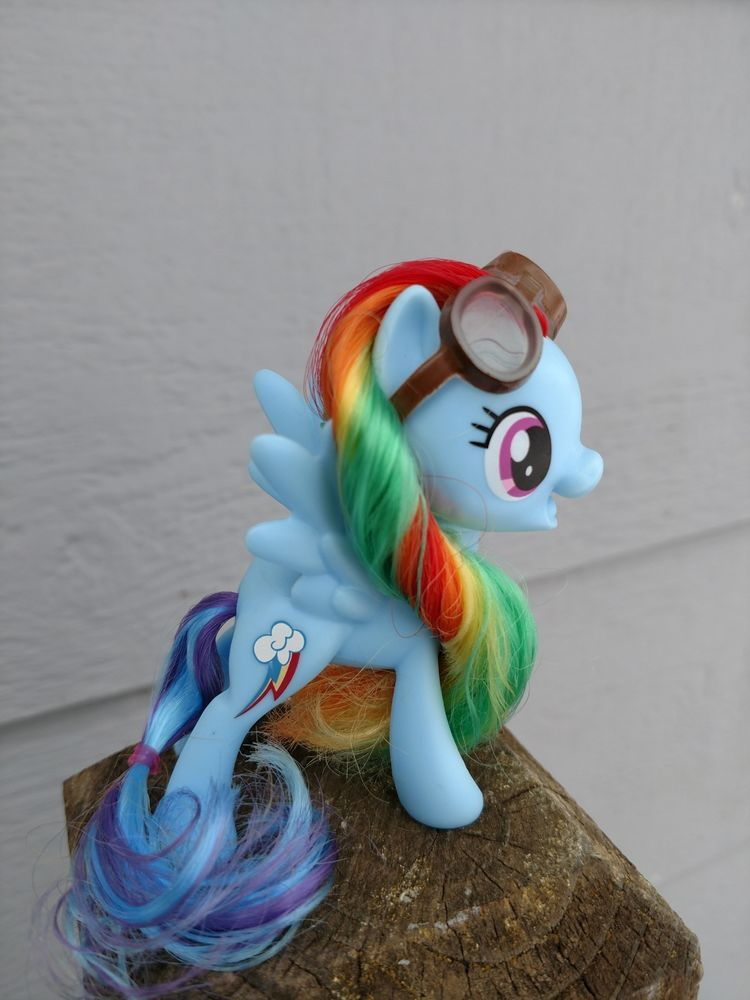 2c4d5055d20 My Little Pony THE MOVIE rainbow dash with goggles !!! G4 G4.5 mlp   MyLittlePony  Gifts  Collectibles