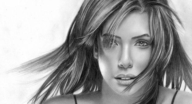 بورتريه رصاص Google Search Eva Longoria How To Draw Hair Jessica Alba Hair