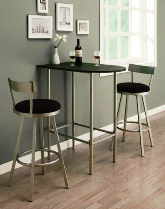 Tall Table And Chairs For Kitchen Skinny Cabinet Delicate With Cute Decorating Home Ideas Sets Small Spaces